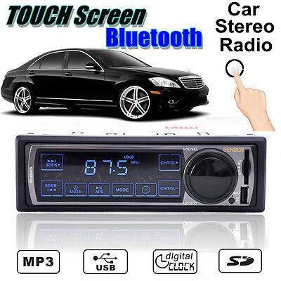 "Car Bluetooth MP3 SD Player USB AUX Stereo 2.5"" Touch Radio FM Single DIN 50Wx4"
