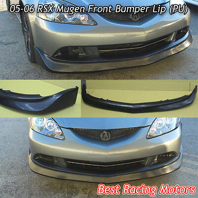 Mu-gen Style Front Bumper Lip (Urethane) Fits 05-06 Acura RSX 2dr