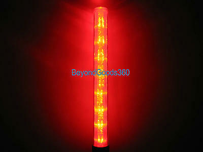 Policeman Security Safety Traffic Control 3AAA 3-mode Red LED Light Magnet Wand