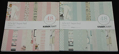 "Kaisercraft 'PEEKABOO' Paper Pad 12"" 48 Sheets 24 Designs x2 (You choose) KAISER"