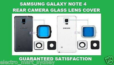 Genuine Camera Glass Lens Cover Frame Replacement For Samsung Galaxy Note 4