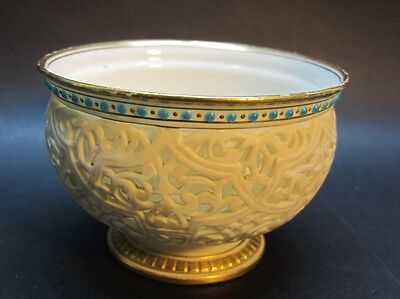 Rare Early Royal Worcester Reticulated Double-Walled Porcelain Bowl    antique