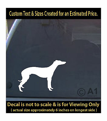 Italian greyhound dog 6 inch decal pet love best friend car laptop mor swp1_60b