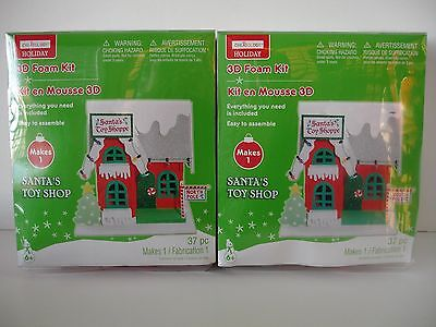 Creatology Holiday 3D Santa's Toy Shop Craft Foam Kit, New In Box, Set of 2