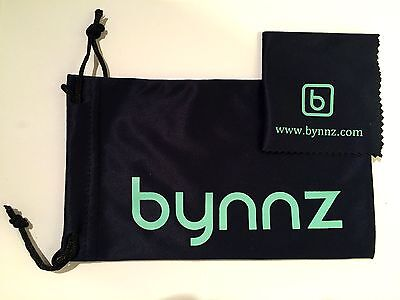 Bynnz Soft Bag and 2 Cleaning Cloths for Glasses, Sunglasses, Spectacles