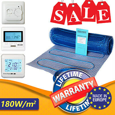 Under Floor Heating Mat Kit Dual Twin Core Electric 160w/m² Under Tile Heating