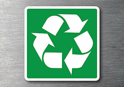 Recycling Icon sticker 7yr vinyl commercial office industrial