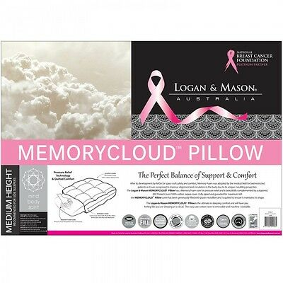 Logan and Mason MEMORY CLOUD PILLOW Non allergenic and Bacteria Resistant