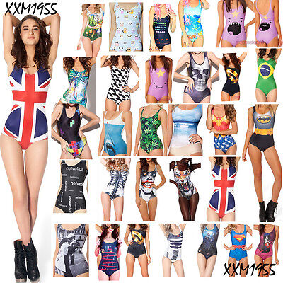 Adult Animated Swimsuit one-piece swimming suit Skinny printing Women's Swimwear