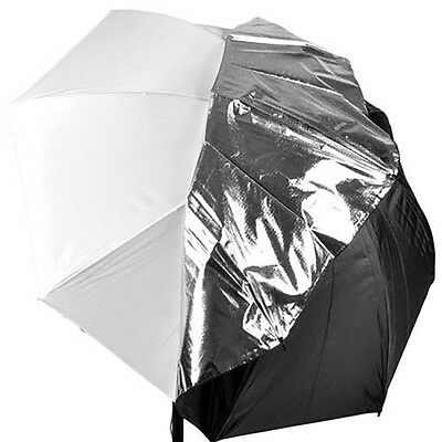 "43"" Photography Studio Soft Bounce Umbrella Flash Reflective Silver White Cover"