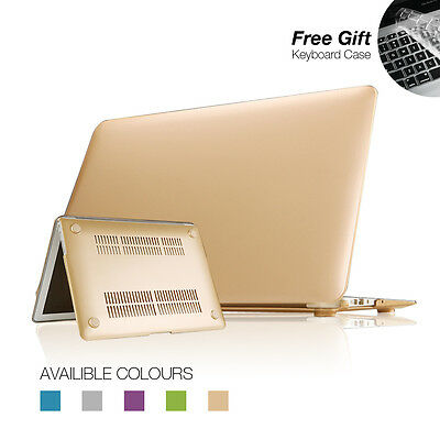 "Metallic Colour Case Cover For Apple Macbook Air 11'' 13"" Retina + Keyboard Skin"
