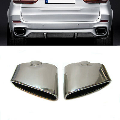 Dual Chrome Exhaust Pipe Muffler Tip Stainless Steel Fits Bmw X5 E70