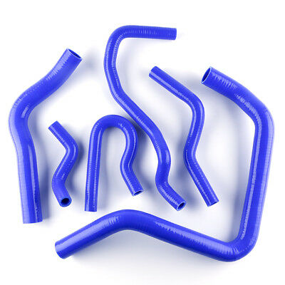 Blue Silicone Radiator Heater Hose Kit For 91-01 Honda Civic Ek4 Ek9 B16A