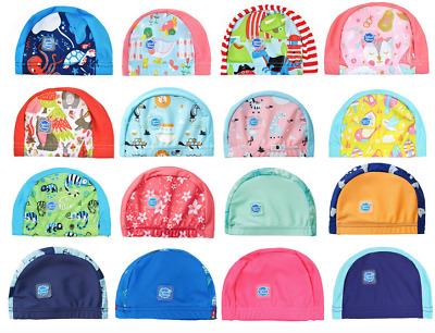 Splash About Swim Cap Hat Baby Toddler Child Fabric Lycra 0-18m 18m+ NEW DESIGNS