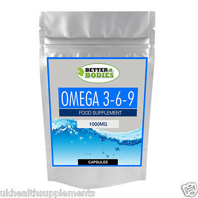 Omega 369 1000mg High Strength Fish Oil EPA DHA Better Bodies Capsules Low Price