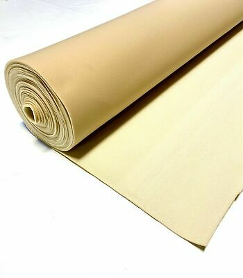"Lt Tan Automotive Headliner Fabric 3/16"" Foam Backing 120"" L X 60"" W Auto Pro"