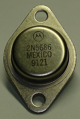 Motorola 2N5686 NPN Complementary Silicon High Power Transistor (2 pcs)