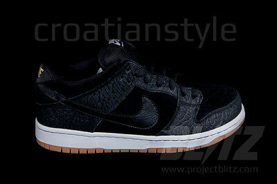 Nike Dunk Low Premium SB QS ENTOURAGE Black White Gum Sole nontourage 504750-040