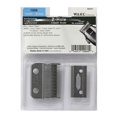 Wahl 2-Hole Blade for Super Taper 8400, Magic 8451, Senior 8545 Clippers (1006)