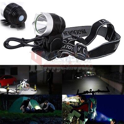 2000 Lm CREE XM-L XML T6 LED Bicycle Bike light HeadLight Head lamp Rechargeable