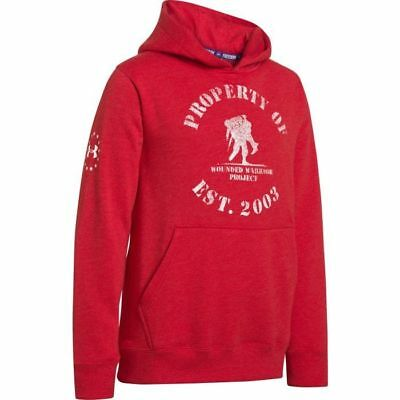 Under Armour YOUTH WWP Freedom Hoodie (Red) 1252245-600 Wounded Warrior