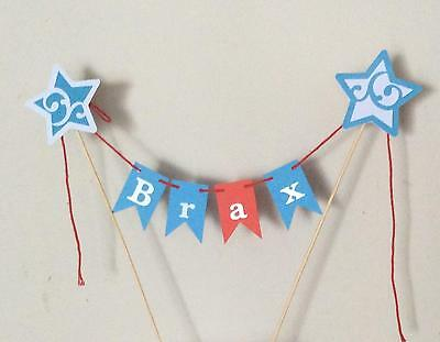 Personalised Cake Bunting Cake Topper,IgglePiggle In The Night Garden themed