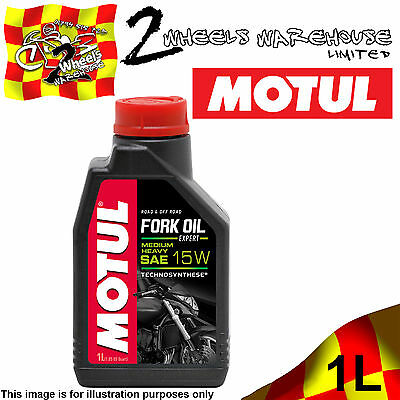 1x 1L LITRE MOTUL MOTORCYCLE FORK OIL EXPERT MEDIUM HEAVY 15W MOTORCYCLE RACE