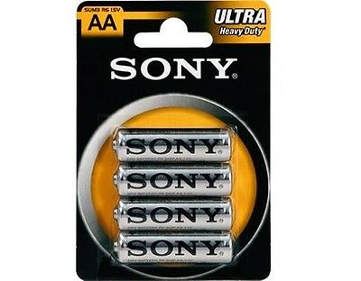 Batterie Pile Sony Stilo Aa Sum3 Ultra Heavy Duty 1.5V In Blister 4-Pezzi