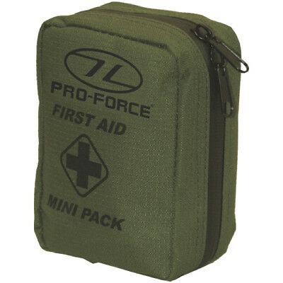 Pro-Force First Aid Mini Pack Tactical Military Army Injury Rescue Pocket Olive