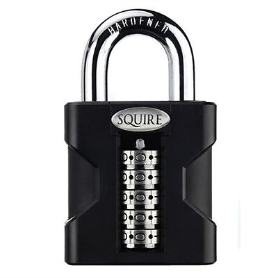 Henry Squire SS50 COMBI 50mm Hi-Security Open Shackle Combi Padlock 10 yr guaran