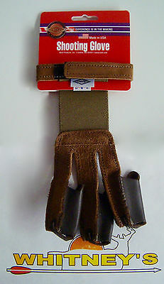 Neet Archery Products - Shooting Glove Tan Suede - Large #60143