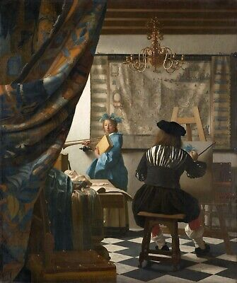 The Art of Painting by Johannes Vermeer Giclee Fine Art Print Reproduction