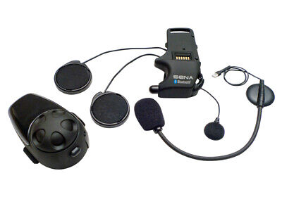 SENA SMH10 Motorcycle Bluetooth Headset/Intercom w/ Universal Microphone Kit