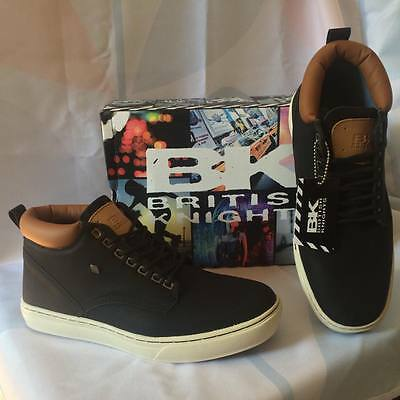 "British Knights BK ""WOOD"" Black/Cognac 43us10 skate Outdoor Schuhe Shoes vegan"