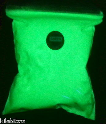 BAZICS Low priced ultra bright glow in the dark green powder - Sent from UK