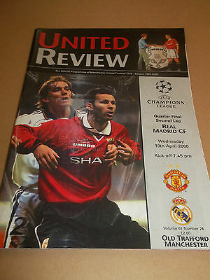 Manchester United V Real Madrid ~ Champions League 1/4 Final Second Leg 2000
