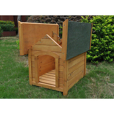 PetPlanet Outdoor Dog Kennel House : Small Wooden Apex with Opening Roof