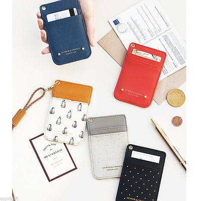 Swing Neck Card Pocket Holder Strap Case Cute Money Coin Wallet Purse Key Ring