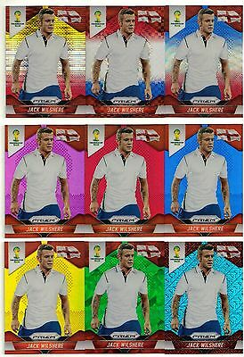 Panini Prizm World Cup 2014 Jack Wilshere England 10 Card Set