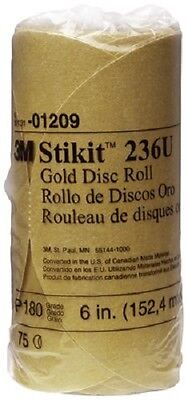 3M 75 DISC ROLL Stick It Gold Disc, 01209, 6 in, 180 Grit A-Weight BRAND NEW