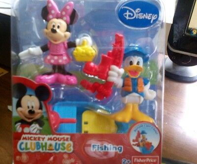 Fisher Price Mickey Mouse Clubhouse Minnie Mouse and Donald Fishing