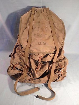 "Ww2 U.s. Army Mountain Troops Backpack 1942 Hinson Mfg. Co. ""m.i.s.s. Pack # 2"""