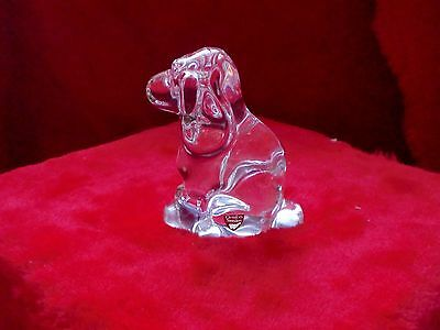Orrefors Sweden Crystal Puppy Dog. Signed and in Excellent Condition.