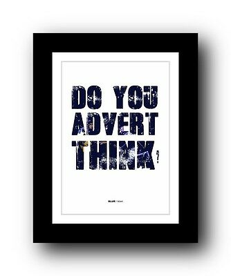 BLUR Advert #2 ❤  song lyrics typography poster art print