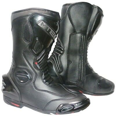 MTECH Motorcycle Leather Boots Shoes Motorbike Leather Waterproof Sports Shoes