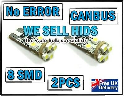 W5W T10 501 LED SIDE LIGHT BULB 8 SMD canbus no warning light  6 months warranty