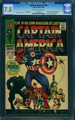 Captain America 100 Cgc 7.5 - Ow/w Pages