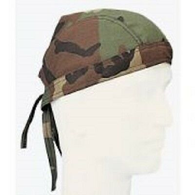 3 Head Wrap Headwrap Hunting Paintball Airsoft Woodland CAMO