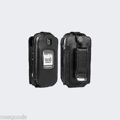 Samsung Gusto 2 Verizon Fitted Leather Case with Swivel Belt Clip by Verizon