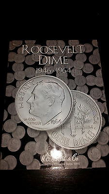 Whitman Publishing Roosevelt Silver Dimes 1946-1964 Collector's Folder